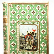 SOLD French Gilt Embossed Book with Center Color Lithograph circa 1863
