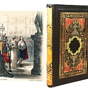 SOLD Antique French Romantic Binding with Color Lithographs circa 1855