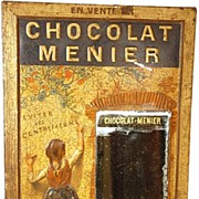 "SOLD Antique French  Affiche (Publicity Sign) ""Chocolat Menier"""