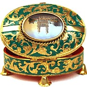 "Antique French ""Palais Royal"" Enamel  Trinket Box"