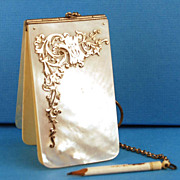 Antique Nineteenth Century French Mother of Pearl Carnet de Bal