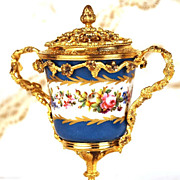 French Nineteenth Century Sevres Porcelain Boule Parfum w/Gilded bronze Monture