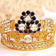 Antique Nineteenth Century Miniature Santos Diadem Crown
