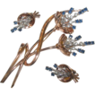 Vintage 1940's Pennino Sterling Rhinestone Brooch & Earrings Demi