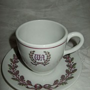 SALE Waldorf Astoria Hotel Demi Cup Saucer Shenango China
