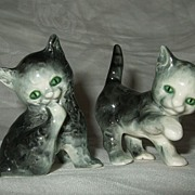 Pair Goebel Green Eyed Gray Playful Kittens