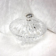 SALE Hawkes Sterling & Crystal Candy Dish