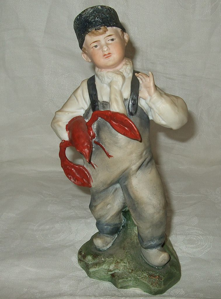 German Bisque Porcelain Lobster Boy Figurine