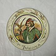 SALE Vintage Royal Doulton Series Ware Rack Plate The Falconer D6279