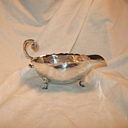 SALE Vintage Casa Prieto Mexican Sterling Silver Footed Sauce Bowl Scroll Handle