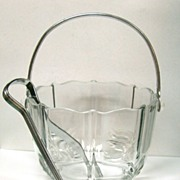 SOLD Fostoria Glass Ice Pail Bucket Baroque Pattern