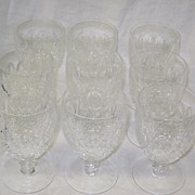 SALE Waterford Crystal Water Goblets Colleen Set of 9