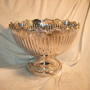SALE Vintage American Silver Plate Fluted Punch bowl