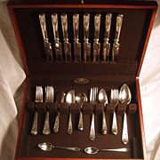SALE Whiting Sterling Silver 1909 Madam Jumel Set of 54 Pieces