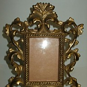 SALE Vintage Ornate Gilt Brass Picture Frame for a Small Photo
