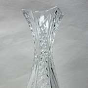 SALE Vintage French Baccarat Cut Crystal Art Glass Tall 12 Bud Flower Vase