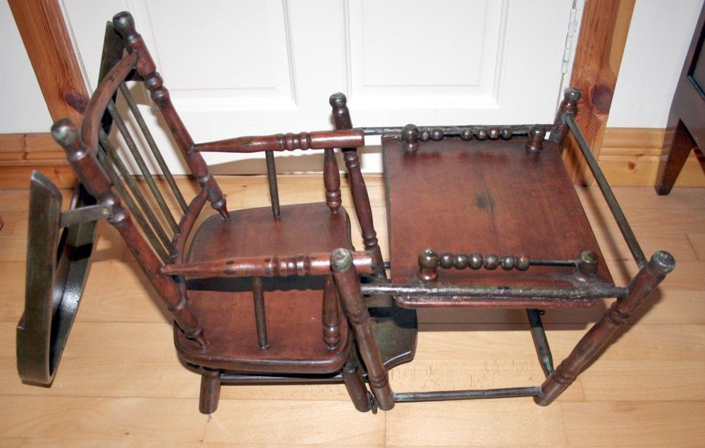 Victorian Rare And Unique Dolls Multi Purpose High Chair - High Chair That  Turns Into A - Antique High Chair Stroller Antique Furniture