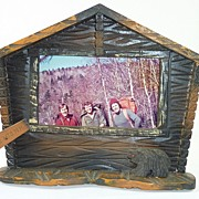 White Mountains New Hampshire Rustic Adirondack Style Picture Frame