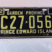 Prince Edward Island, License Plate, Canada 1972,  40th Birthday Gift.