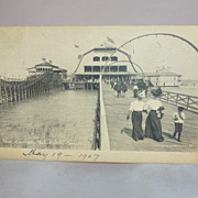 Postcard, Toledo Ohio Amusement Park, Casino & Roller Coaster, 1907, Detroit