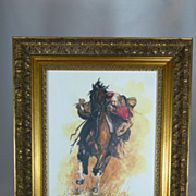 Ken Schmidt , Desperado, Lone Star Studios,  Western Cowboy Print of Watercolor