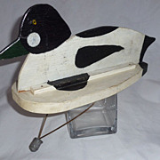 Golden Eye Duck Decoy,  Unique Two-Section, Hand Made, Ducks Unlimited Men Take Note