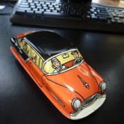 Tin Litho Toy Car, Friction, by Lupor, 1950's,  Original Box