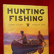1934 Hunting and Fishing Magazine, Colt  and Remington  Gun Ads