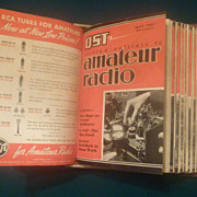 QST Amateur Radio Magazines, 1937 Complete Set, ARRL Hartford CT,