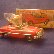 Tin Litho Friction  Toy Car, 1959 Convertible, Little Suzy Ponytail,