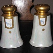Vintage Made in Japan Hand Painted Signed McGowan 208 Porcelain Salt & Pepper Shaker