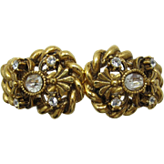 REDUCED Signed Florenza Victorian Style Hinged Bracelet