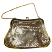 Vintage Evening Handbag Gold Mesh Whiting and Davis