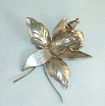 Vintage Mexican Sterling Orchid Flower Brooch