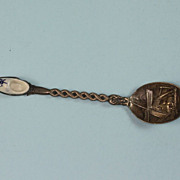 SOLD Netherlands Dutch Shoe and Windmill Silver Souvenir Spoon