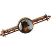 14K Victorian Essex Crystal Dog Bar Pin Brooch