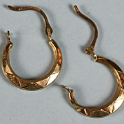 14K Gold Hoop Earrings for Pierced Ears