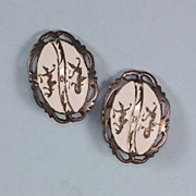 Siam Sterling White Enamel Clip Earrings God Goddess or Dancer