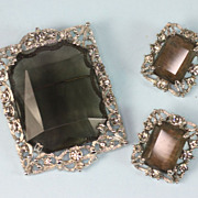 Sarah Coventry Celebrity Brooch/Pendant and Earrings Set 1965