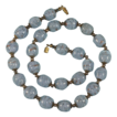 Blue Glass Bead Necklace Italian Sommerso Venetian