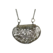 Silver Tone Filigree Purse Pendant Necklace