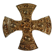 Accessocraft Maltese Cross Brooch/Pendant Byzantine Design