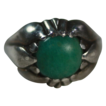 Vintage Georg Jensen Amazonite and Sterling Ring