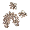Eisenberg Crystal Brooch Pin Clip Earrings Demi Parure
