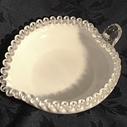 SALE Fenton Silvercrest Heart Shaped Bowl