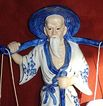 Porcelain & 24k Gold Asian Man Figurine
