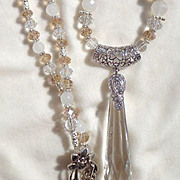 "SALE 3"" Crystal Spear Necklace"