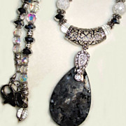 SALE Crystal Spear & Hematite Necklace