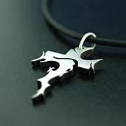 Contemporary Free Form Sterling Silver Cross