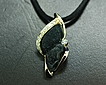 Black Druzy Quartz and Diamond Pendant #2